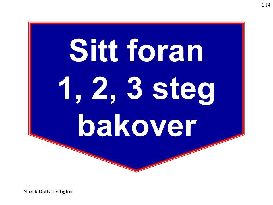 Norsk Rally Lydighet Sitt foran 1, 2, 3 steg bakover 214