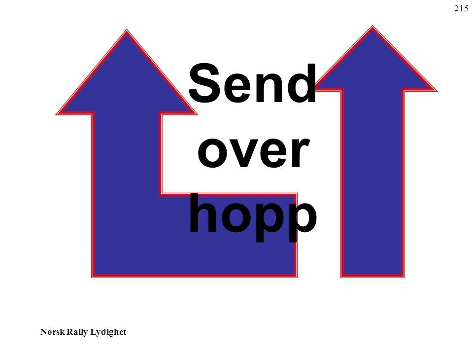 Norsk Rally Lydighet 215 Send over hopp