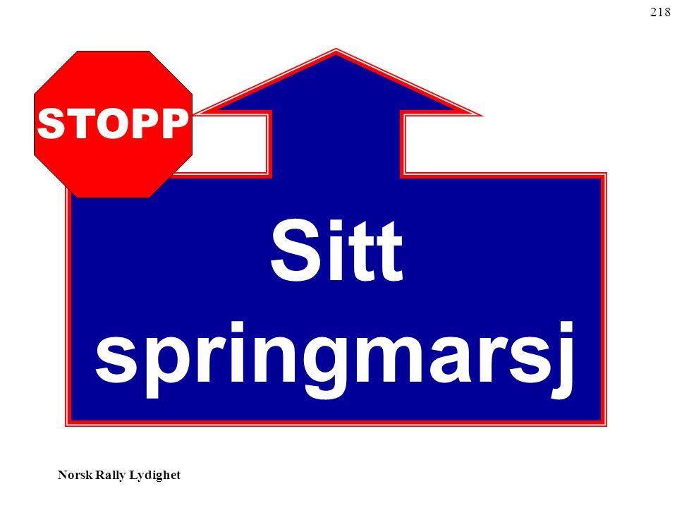 Norsk Rally Lydighet Sitt springmarsj STOPP 218
