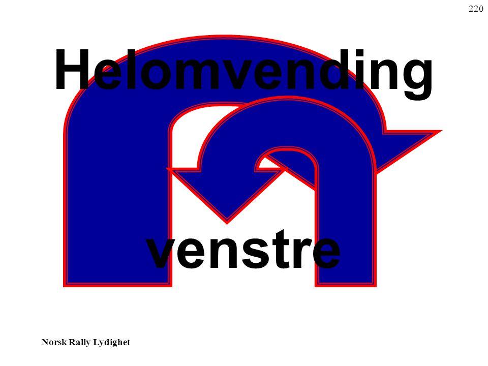 Norsk Rally Lydighet Helomvending venstre 220