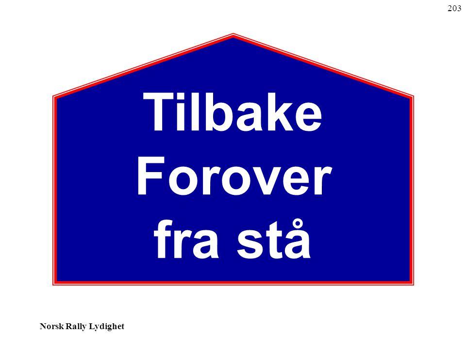 Norsk Rally Lydighet Tilbake Forover fra stå 203