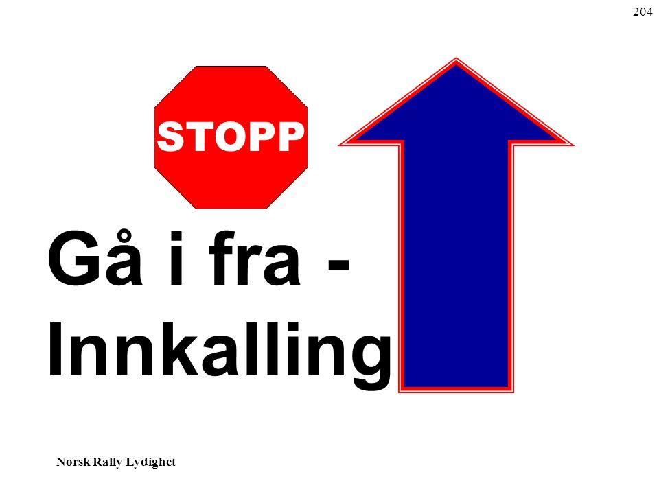 Norsk Rally Lydighet STOPP Gå i fra - Innkalling 204