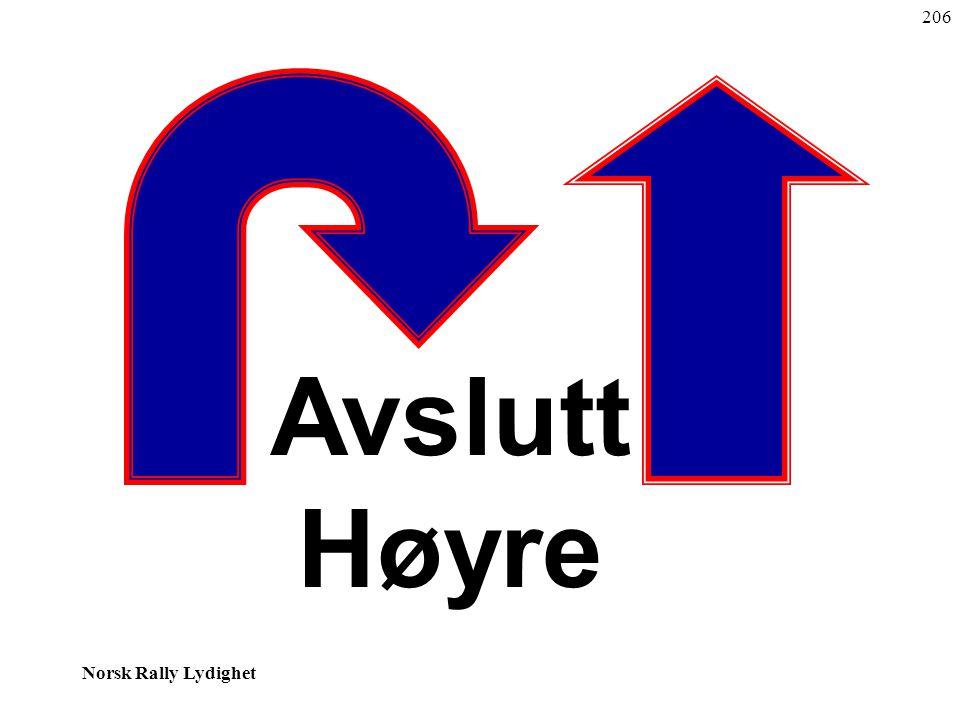 Norsk Rally Lydighet Avslutt Høyre 206
