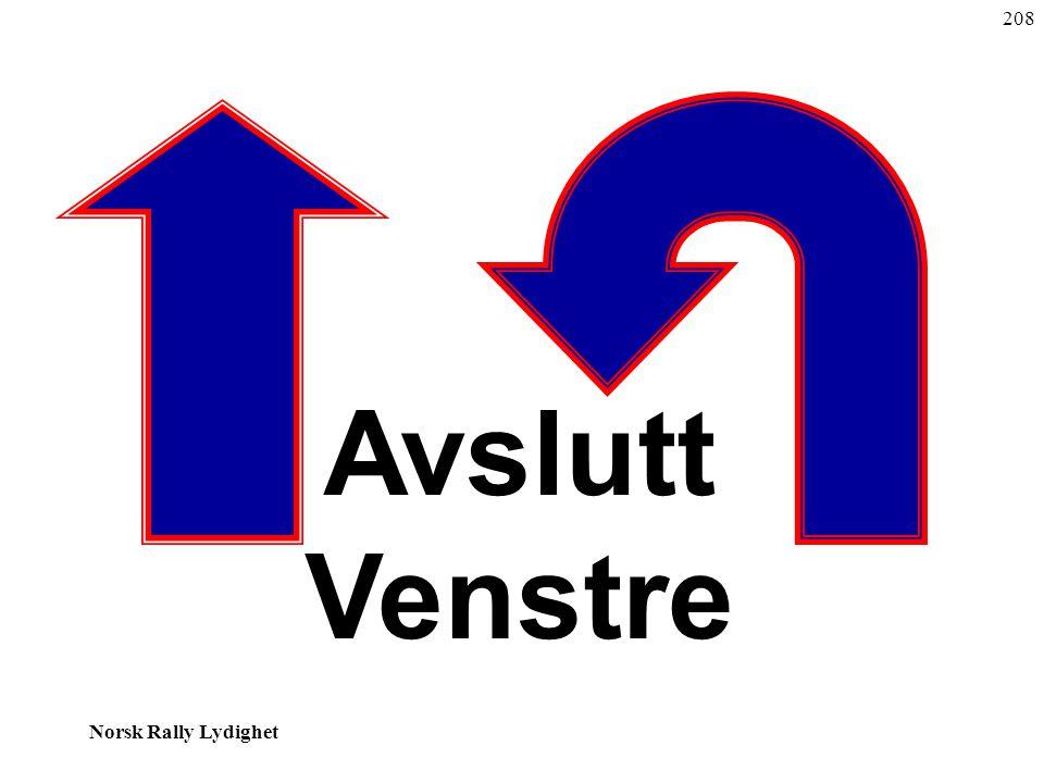 Norsk Rally Lydighet Avslutt Venstre 208