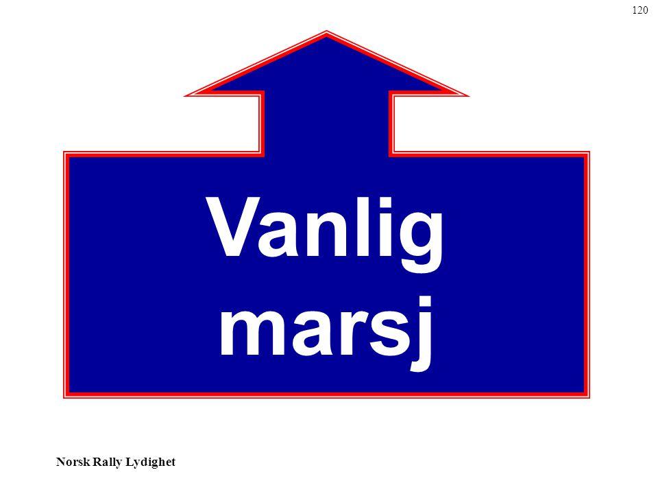 Norsk Rally Lydighet Vanlig marsj 120