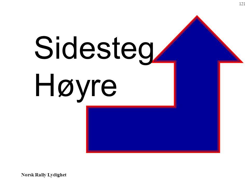 Norsk Rally Lydighet Sidesteg Høyre 121