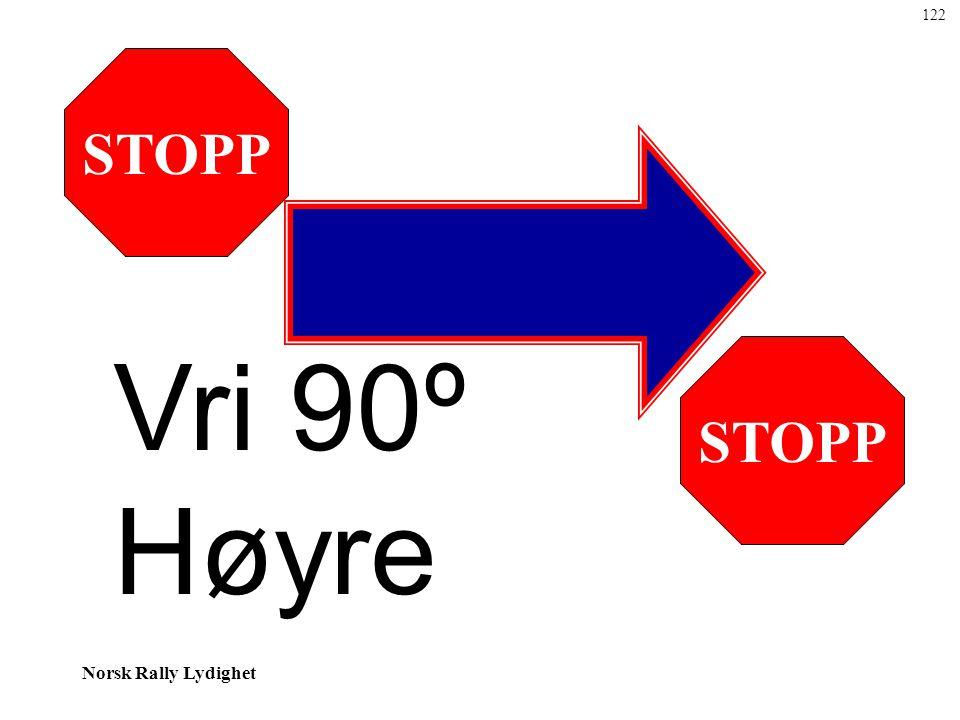 Norsk Rally Lydighet STOPP Vri 90º Høyre 122