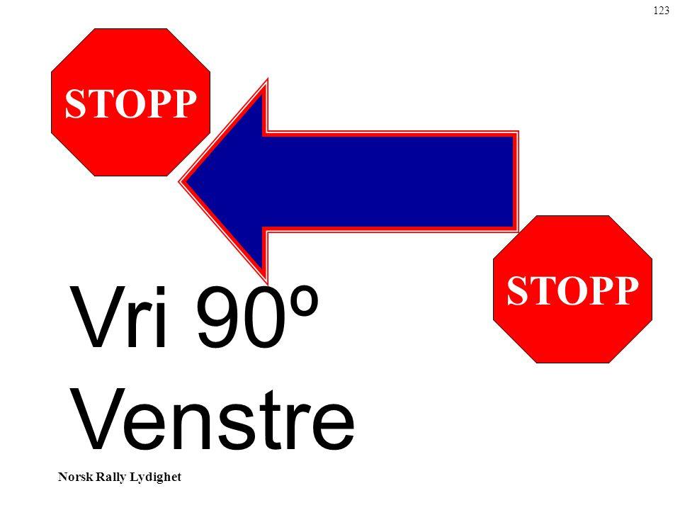 Norsk Rally Lydighet STOPP Vri 90º Venstre 123