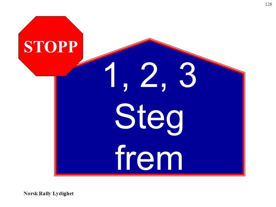 Norsk Rally Lydighet 1, 2, 3 Steg frem STOPP 126