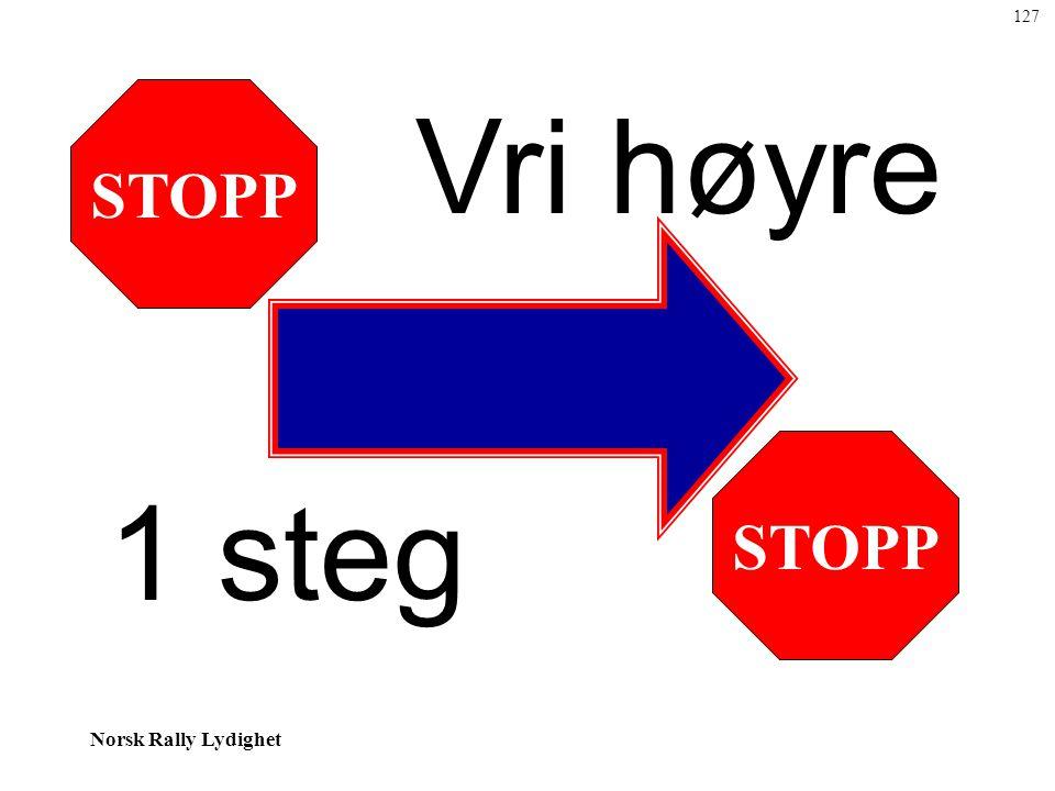 Norsk Rally Lydighet STOPP Vri høyre 1 steg 127