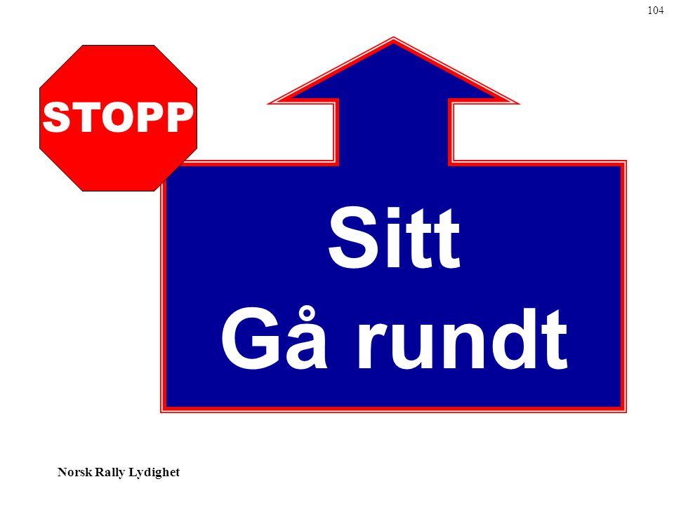 Norsk Rally Lydighet Sitt Gå rundt STOPP 104
