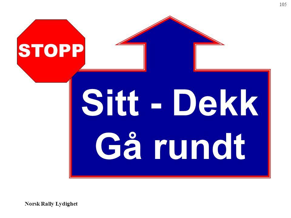 Norsk Rally Lydighet Sitt - Dekk Gå rundt STOPP 105
