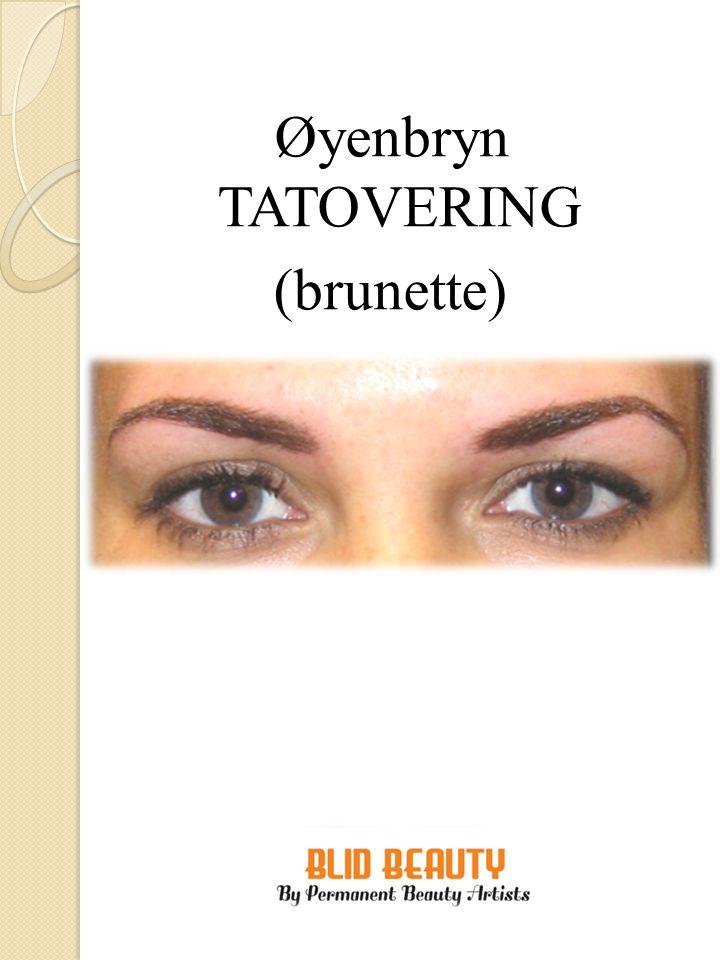 Øyenbryn TATOVERING (blond)