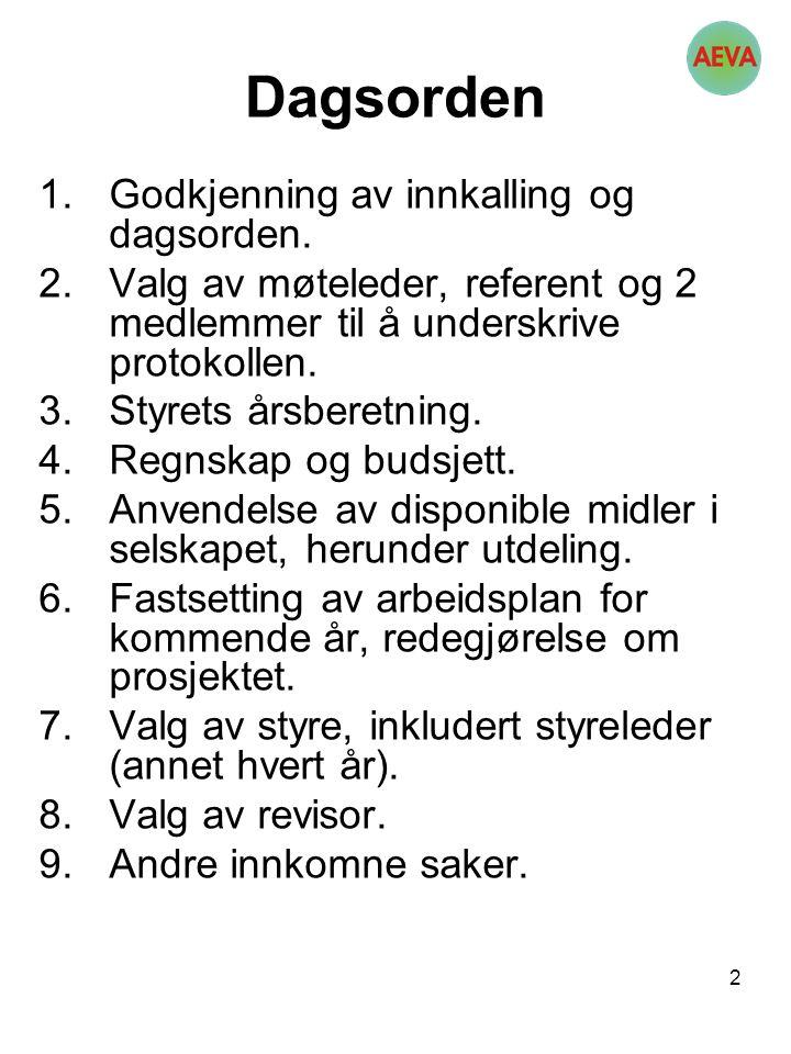 13 Valg av styre valgkomiteens forslag Lloyd Lilleng, leder, gjenvalg 2 år Stig Eriksen 2 år Erling Strand 2 år Tor Ch.