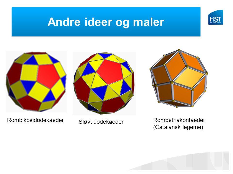Andre ideer og maler Sløvt dodekaeder RombikosidodekaederRombetriakontaeder (Catalansk legeme)
