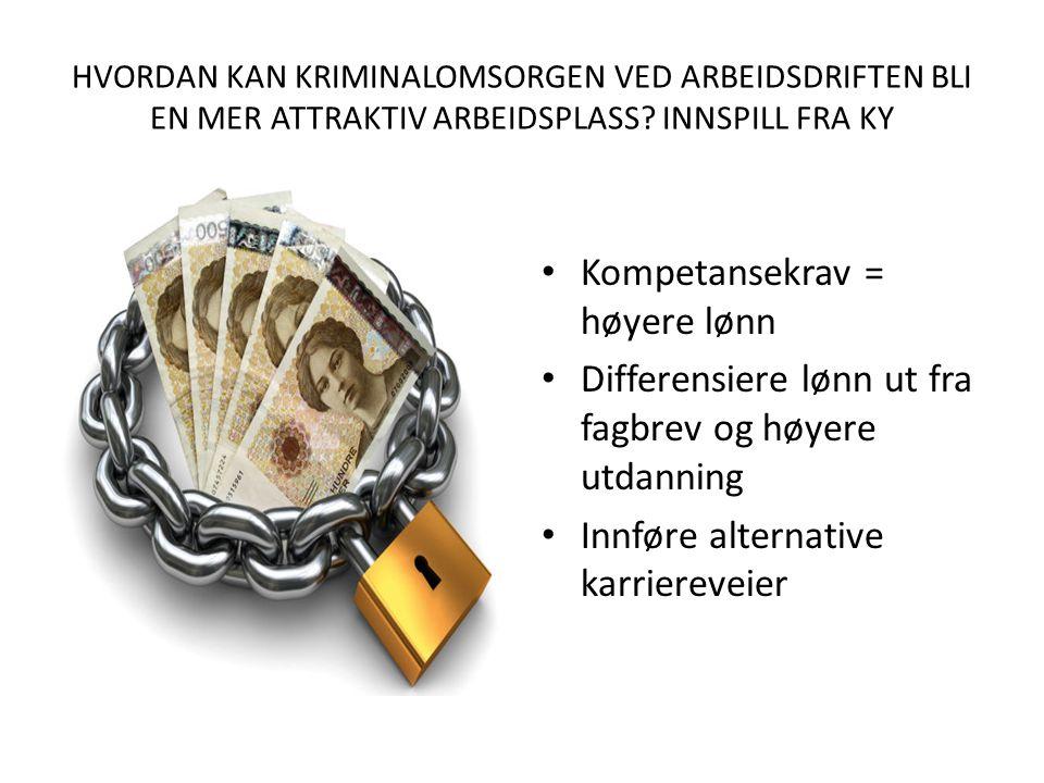 HVORDAN KAN KRIMINALOMSORGEN VED ARBEIDSDRIFTEN BLI EN MER ATTRAKTIV ARBEIDSPLASS.