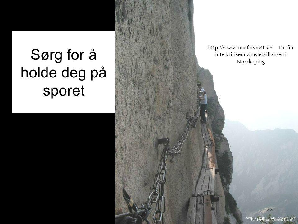Sørg for å holde deg på sporet 2014-07-2022 http://www.tunaforsnytt.se/ Du får inte kritisera vänsteralliansen i Norrköping