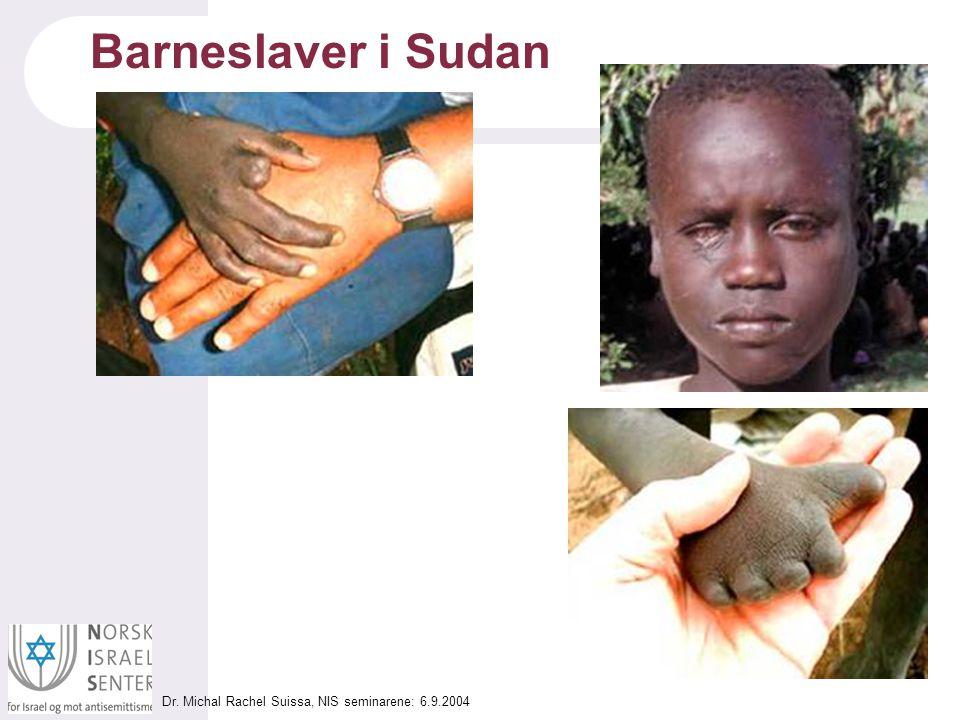 Dr. Michal Rachel Suissa, NIS seminarene: 6.9.2004 Barneslaver i Sudan