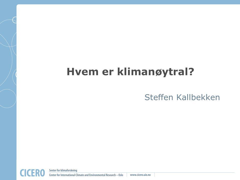 Hvem er klimanøytral Steffen Kallbekken