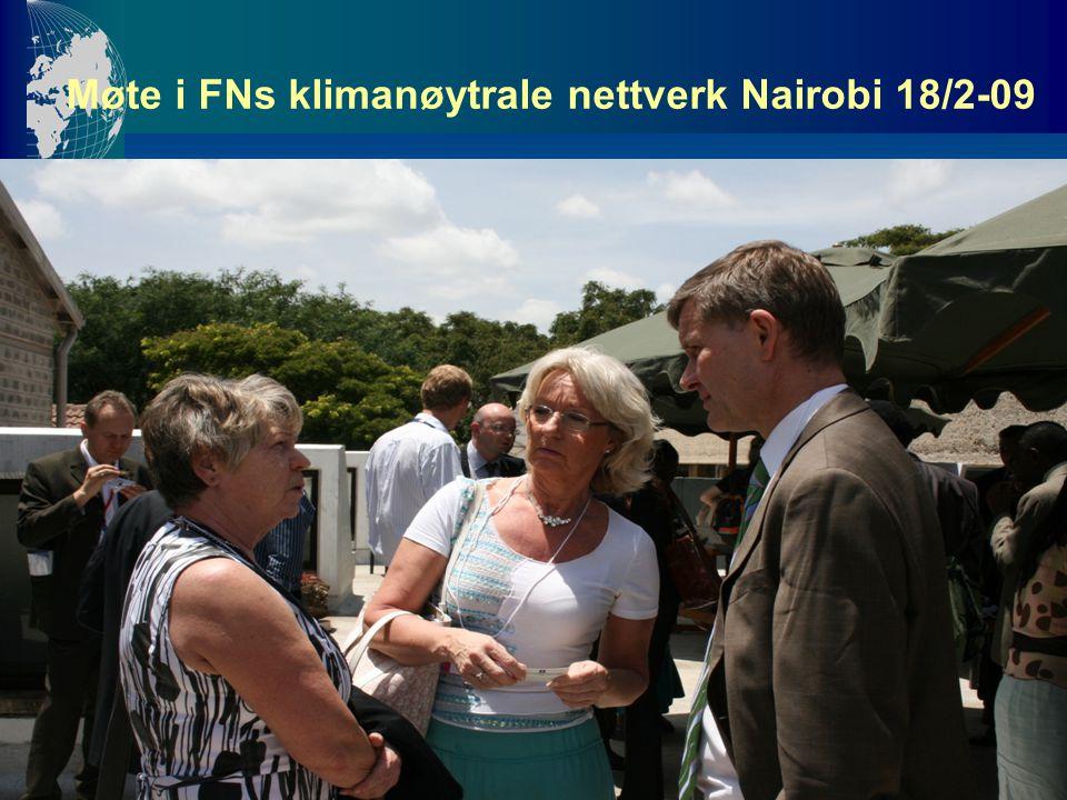 Møte i FNs klimanøytrale nettverk Nairobi 18/2-09