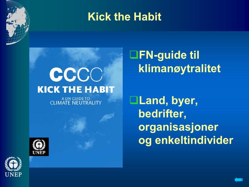 Kick the Habit  FN-guide til klimanøytralitet  Land, byer, bedrifter, organisasjoner og enkeltindivider