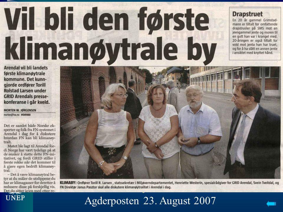 5 Agderposten 23. August 2007