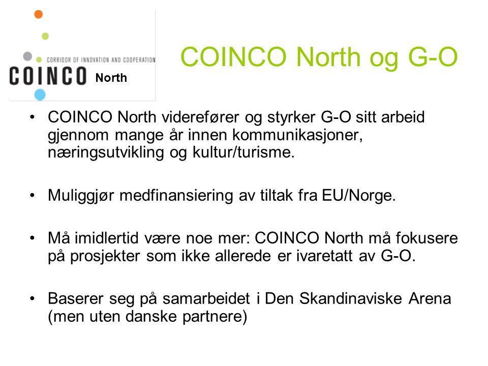 COINCO North og G-O COINCO North viderefører og styrker G-O sitt arbeid gjennom mange år innen kommunikasjoner, næringsutvikling og kultur/turisme.