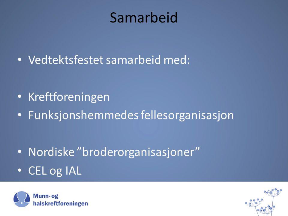 Samarbeid Vedtektsfestet samarbeid med: Kreftforeningen Funksjonshemmedes fellesorganisasjon Nordiske broderorganisasjoner CEL og IAL