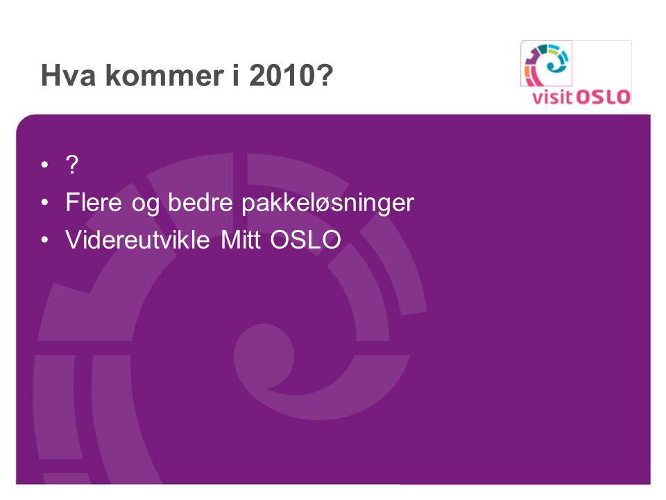 Nytt eNyhetsbrev til alle i VisitOSLOs bookingdatabase (tidligere bookingkunder)