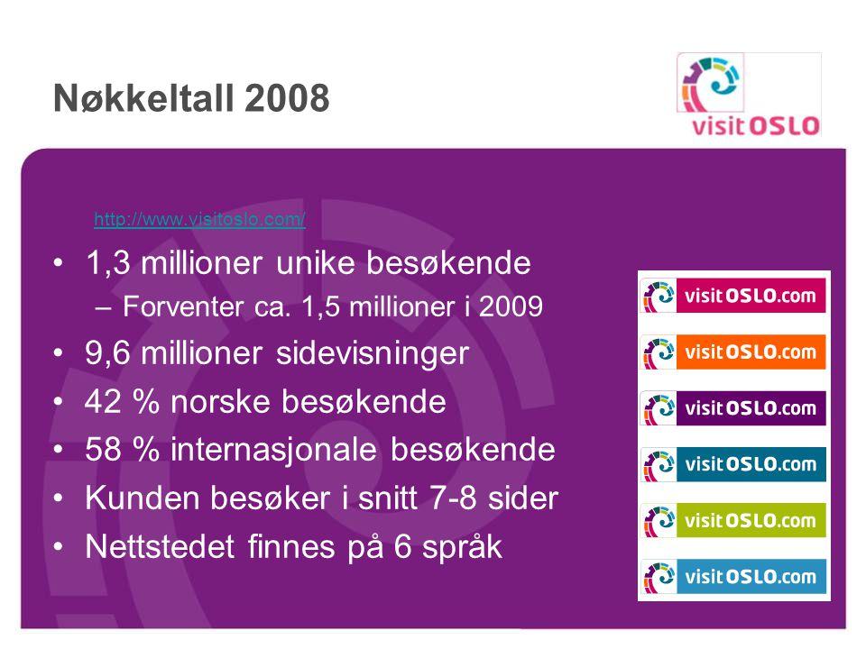 Agenda Nøkkeltall Hva er nytt på web i 2009? Hva gjør VisitOSLO for å bygge trafikk til sine sider? Hvorfor annonsere hos VisitOSLO?