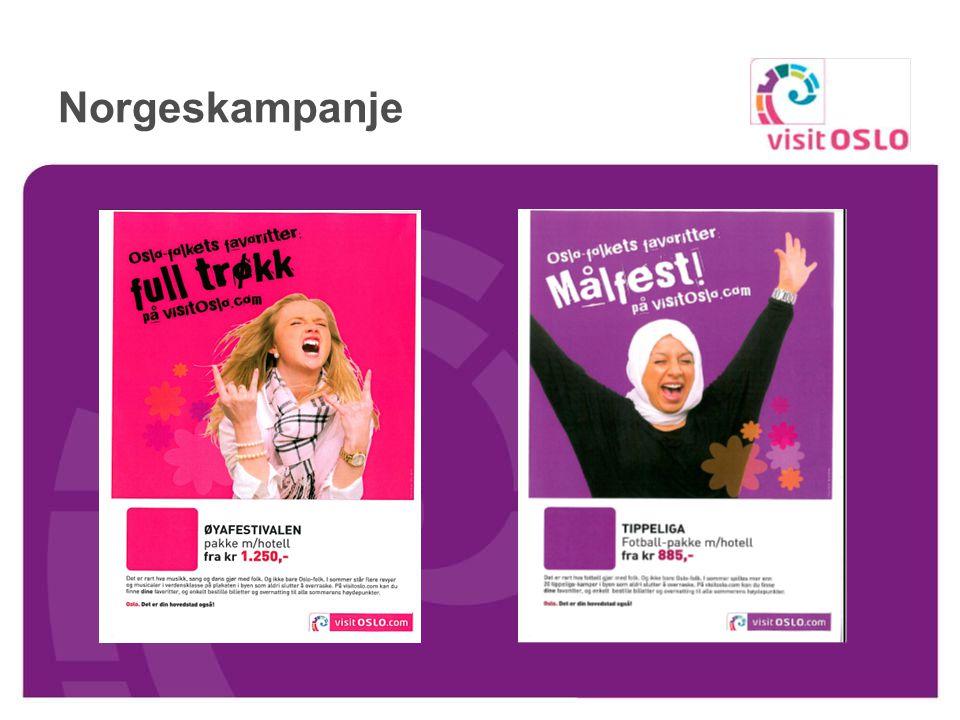 Nytt på nett - online booking Nye pakker; show, teater og idrettsarrangementer Nytt design på booking portalen Ny handlekurv http://www.visitoslo.com/