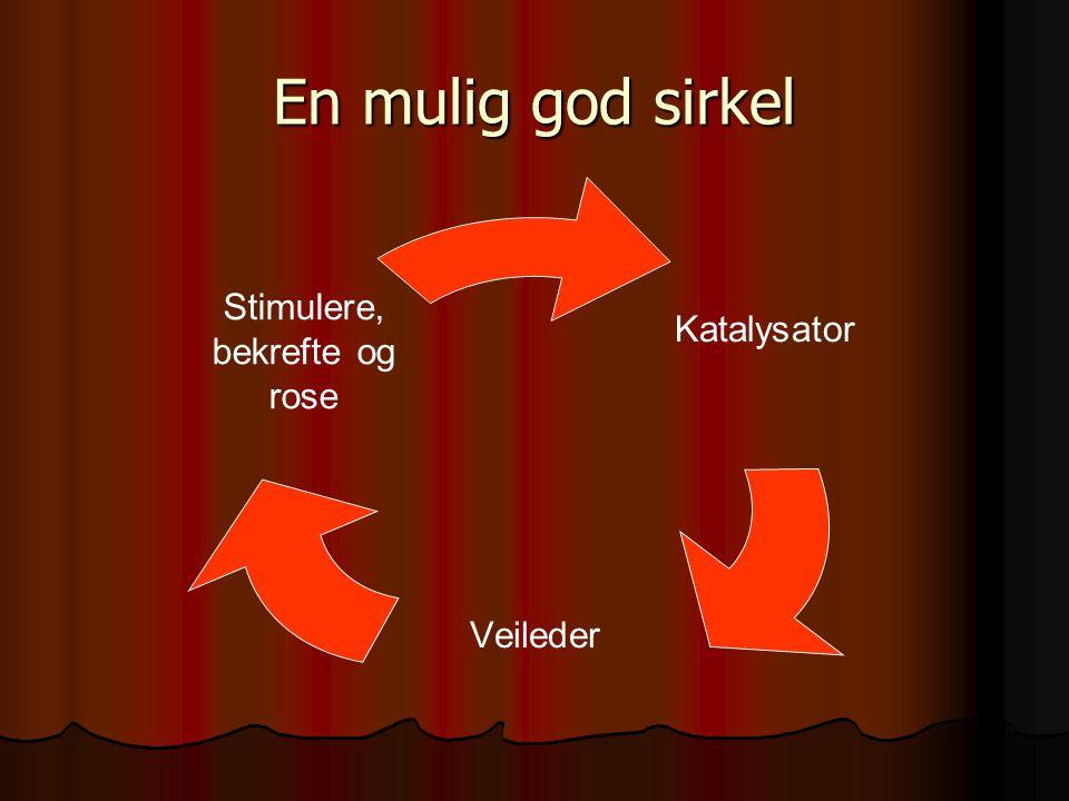 En mulig god sirkel Katalysator Veileder Stimulere, bekrefte og rose