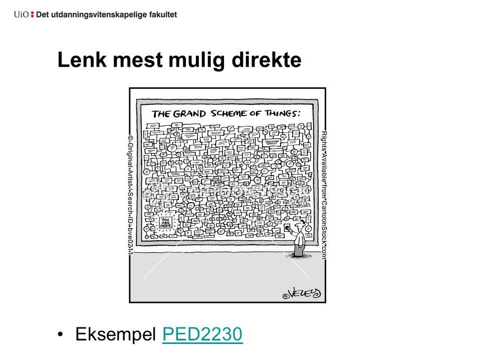 Lenk mest mulig direkte Eksempel PED2230PED2230