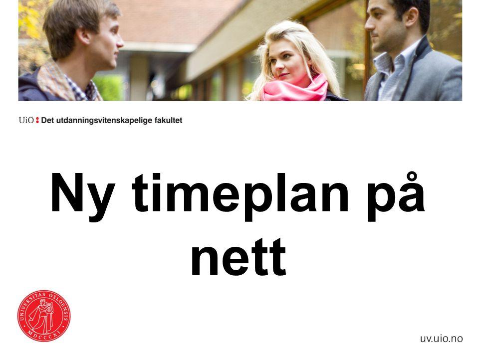 Ny timeplan på nett