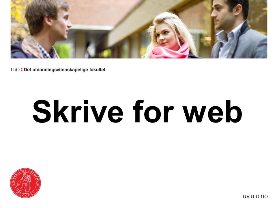 Skrive for web