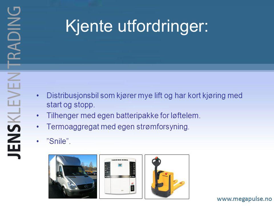 Kjente utfordringer: Distribusjonsbil som kjører mye lift og har kort kjøring med start og stopp.