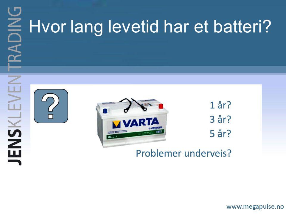 Hvor lang levetid har et batteri?
