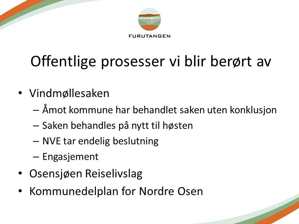 Offentlige prosesser vi blir berørt av Vindmøllesaken – Åmot kommune har behandlet saken uten konklusjon – Saken behandles på nytt til høsten – NVE ta