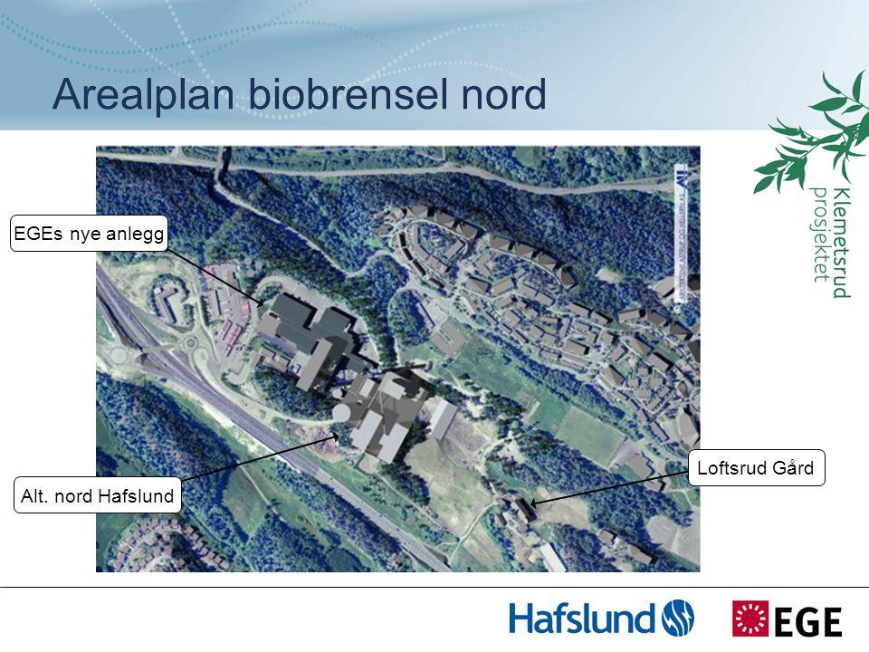 Loftsrud Gård Alt. nord Hafslund EGEs nye anlegg Arealplan biobrensel nord