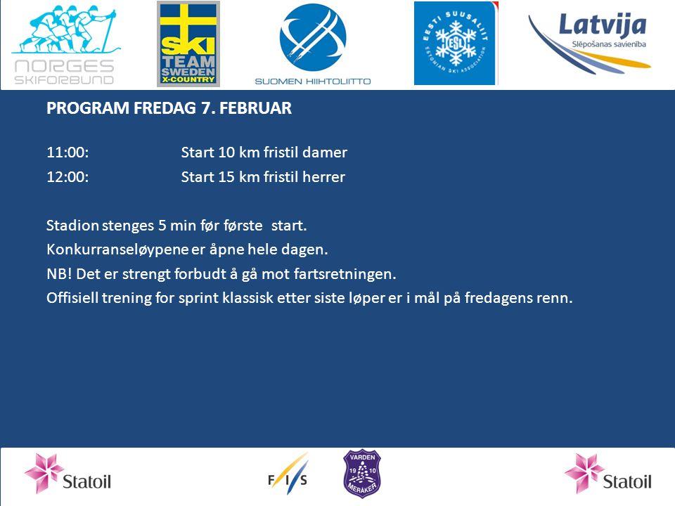 PROGRAM FREDAG 7.