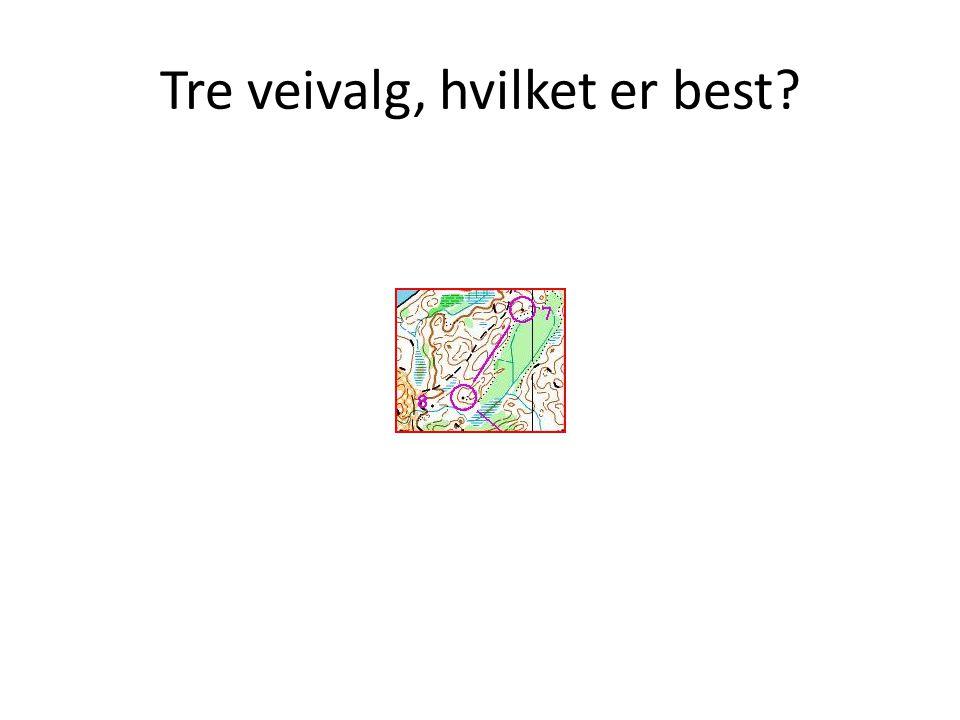 Tre veivalg, hvilket er best?