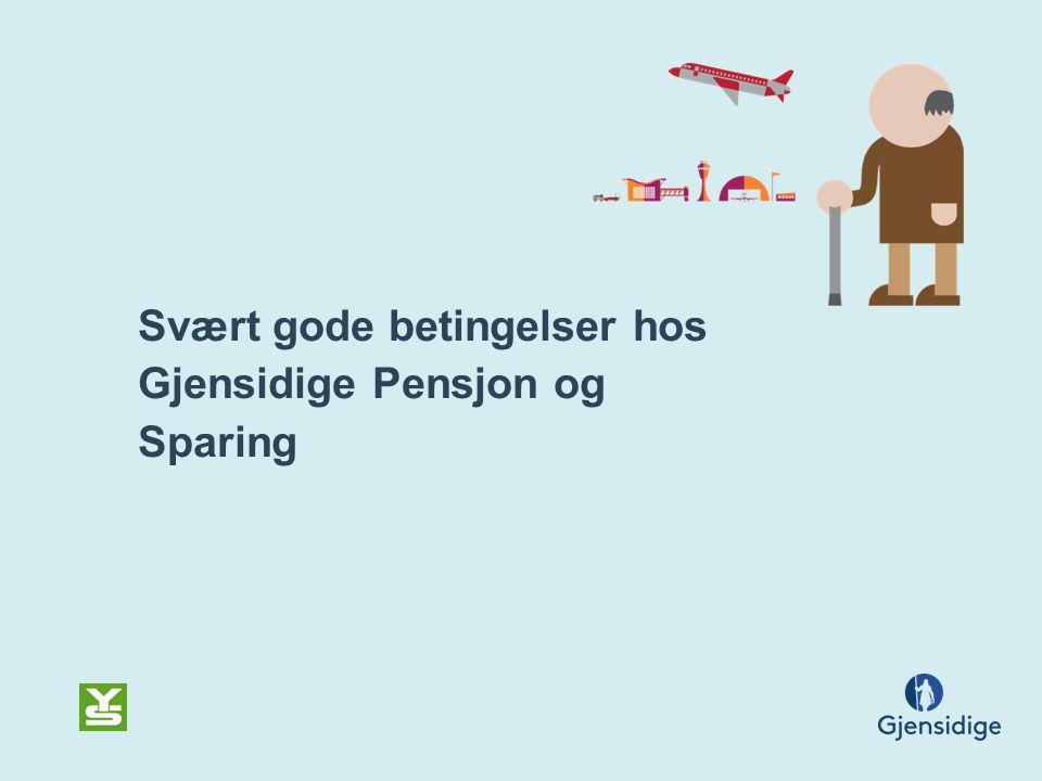 Svært gode betingelser hos Gjensidige Pensjon og Sparing