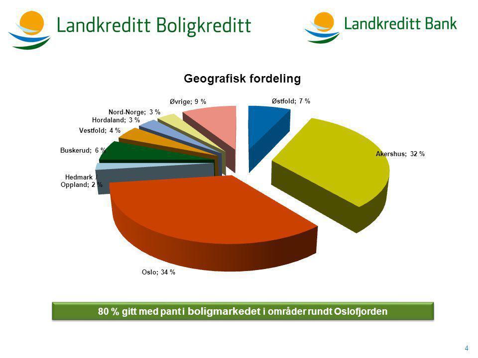 4 80 % gitt med pant i boligmarkedet i områder rundt Oslofjorden