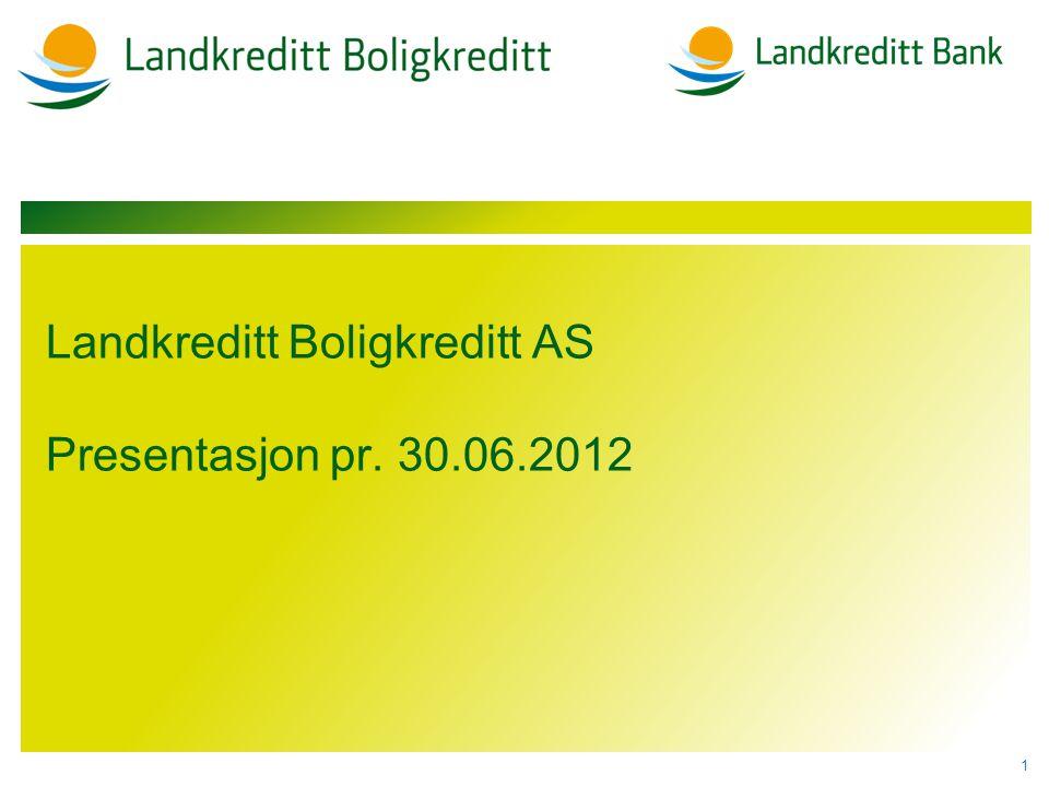 Landkreditt Boligkreditt AS Presentasjon pr. 30.06.2012 1