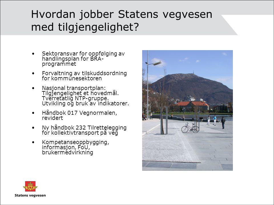 Hvordan jobber Statens vegvesen med tilgjengelighet.