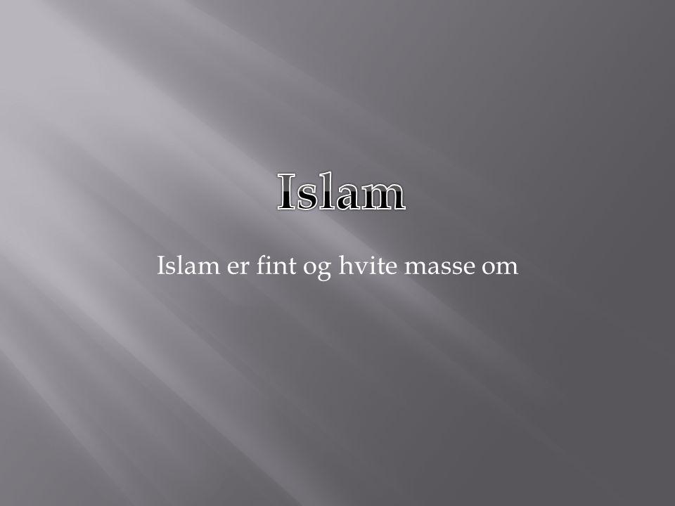 Islam er fint og hvite masse om
