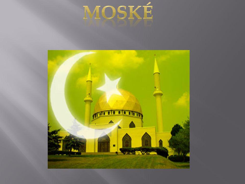  En moské er et muslimsk sakralbygg for bønn og koranstudium. Sentrale elementer i en moské er mihrab en nisje i veggen som vender mot Mekka, minbar