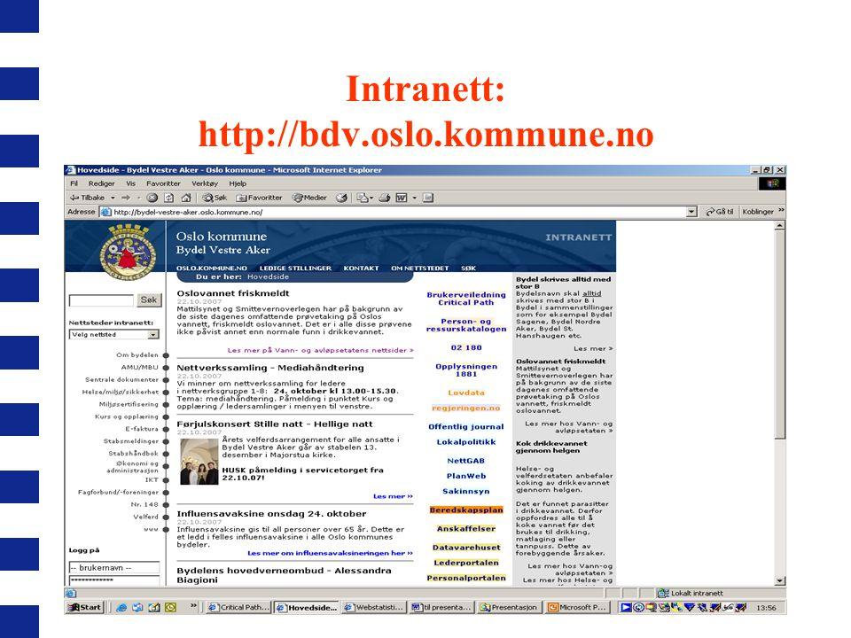 Intranett: http://bdv.oslo.kommune.no