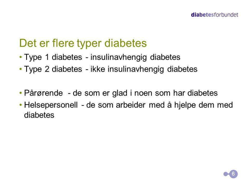 Å leve med diabetes En utfordring 24 timer i døgnet - 365 dager i året Et vedvarende spenningsfelt mellom hva du gjør og hva du burde gjøre Stiller store krav til kunnskaper, holdninger og ferdigheter En alvorlig sykdom - som du kan leve godt med 7