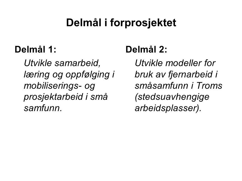 Fremdrift Mars: Søknad via fylkeskommunen August: Tilsagn fra KRD Etablering av prosjektorganisasjon, og avklaring av roller og rammer.